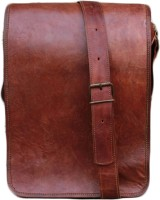 NK Vintage Leather Men, Women, Boys, Girls Brown Genuine Leather Sling Bag