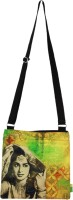 Eco Corner Women Casual Yellow Cotton Sling Bag