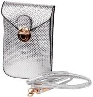 Trendberry Women Casual Silver PU Sling Bag