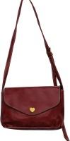 Parv Collections Women Casual Red Leatherette Sling Bag