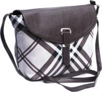 Voaka Girls, Women Brown, Black, White Leatherette Sling Bag