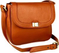 Gauge Machine Girls, Women Tan Leatherette Sling Bag