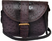 The Runner Girls Casual Purple Leatherette Sling Bag