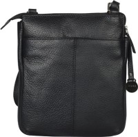 Hunt Women Casual Black Genuine Leather Sling Bag