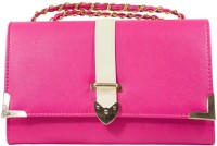 Heels & Handles Women Casual, Formal Pink PU Sling Bag