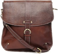 Fume Leather Medium Sling Bag - Brown