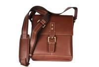Pellezzari Men, Boys, Girls, Women Maroon Genuine Leather Sling Bag