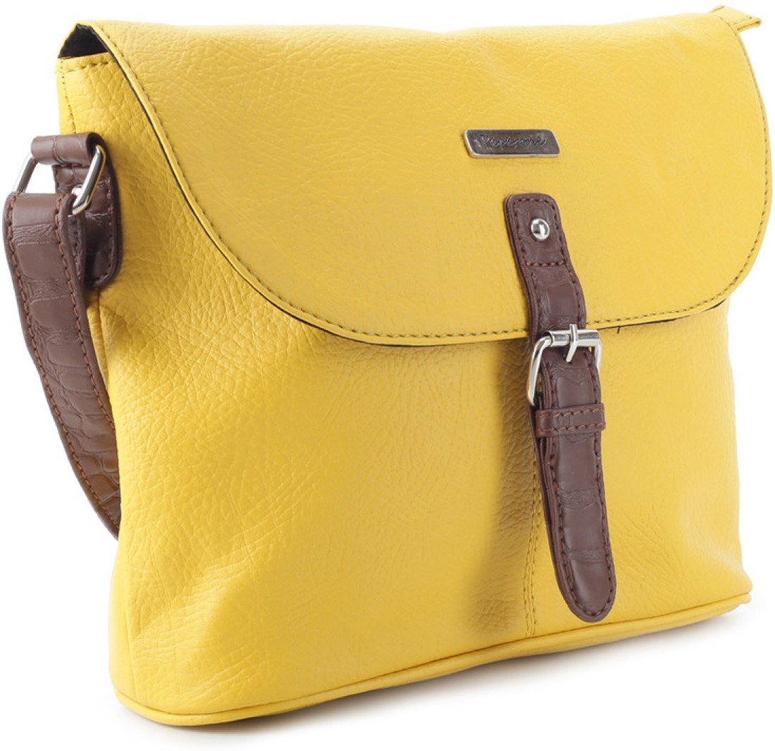 Gym Bag Flipkart: Peperone Women Casual Yellow Sling Bag Yellow