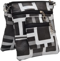 Hawai Block Pattern Small Sling Bag - Black-01