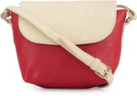 Frosty Fashion Women Casual Red PU, Leatherette Sling Bag