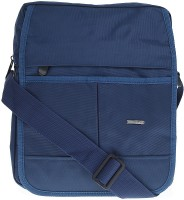 Lino Perros Men Casual Blue Polyester Sling Bag