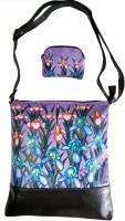 Balona Girls, Women Purple Genuine Leather Sling Bag