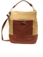 Dazz Women Casual Beige, Brown PU Sling Bag