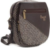 Baggit Women White, Brown Sling Bag