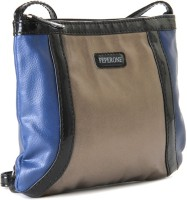 Peperone Women Blue, Brown Artificial Leather Sling Bag