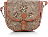 Shaun Design Hand Embroidered Woolen Herringbone Cross Body Small Sling Bag - SLBDX5HKUUPGGGKH