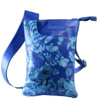 Leaf Addiction Print Sling Bag - Blue
