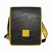 Chimera Leather LMB160201410 Sling Bag - Black, Yellow