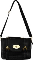 Parv Collections Women Casual Black Genuine Leather Sling Bag