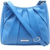 Aadaana Women Casual Blue Leatherette Sling Bag