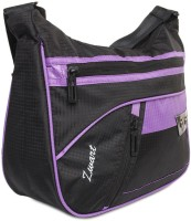 Zwart 314104BP Medium Sling Bag - Black, Purple