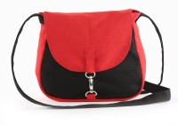 Vogue Tree REDBLK Medium Sling Bag (Red)