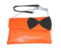 Shimmer Trends Girls, Women Casual, Festive, Formal, Evening/Party Orange PU Sling Bag