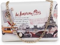 Star Style Women Beige Leatherette Sling Bag