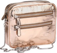 Valentino Women Casual Gold Genuine Leather Sling Bag