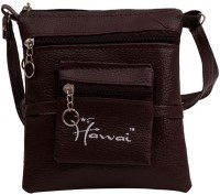 Hawai PU Leather Small Sling Bag - Brown-01