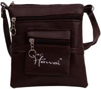 Hawai PU Leather Small Sling Bag - Brown-01