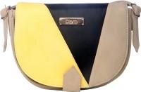 D'oro Women Yellow PU Sling Bag