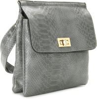 Addons Women Grey PU Sling Bag