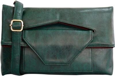 Toteteca Bag Works Women Green Leatherette Sling Bag