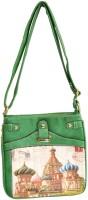 Women Trendz Women Casual Green Jute Sling Bag