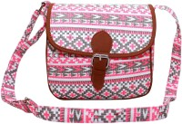 Lychee Bags Girls Pink Canvas Sling Bag