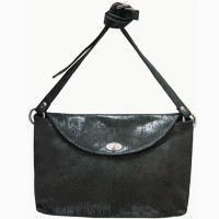 Jeane Sophie Women Evening/Party Black Genuine Leather Sling Bag