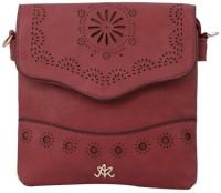 Aarushi Khurana Women Maroon, Red Leatherette Sling Bag