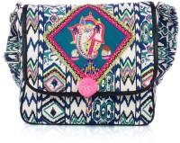 Shaun Design Ikat Print With Embroidered Ganesha Medium Sling Bag - SLBDX5HKJ2CRVHZ9