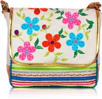 Shaun Design Floral Embroidered Cross Body Medium Sling Bag - SLBDX5HKZXK84JAB