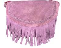 Adimani Girls Casual Purple Genuine Leather Sling Bag
