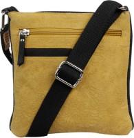 Hunt Women Casual Khaki Genuine Leather Sling Bag