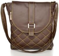 Felicita Criss Cross Small Sling Bag - Brown-01