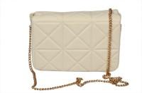 BH Wholesale Market Women Casual White Leatherette Sling Bag