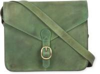 Calligraphy Cross Body Medium Sling Bag - Green