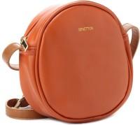 United Colors Of Benetton Women Tan PU Sling Bag