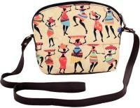The G Street Women Brown Canvas Sling Bag