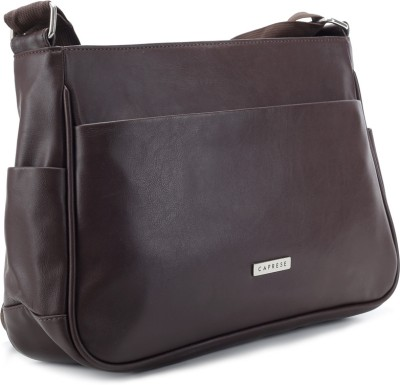 Caprese Women Casual Brown Sling Bag at Flipkart
