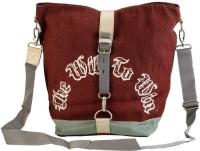 The Jute Shop Women Formal Brown Cotton Sling Bag