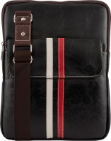 Unixx Women Casual Black, White, Red Genuine Leather Sling Bag